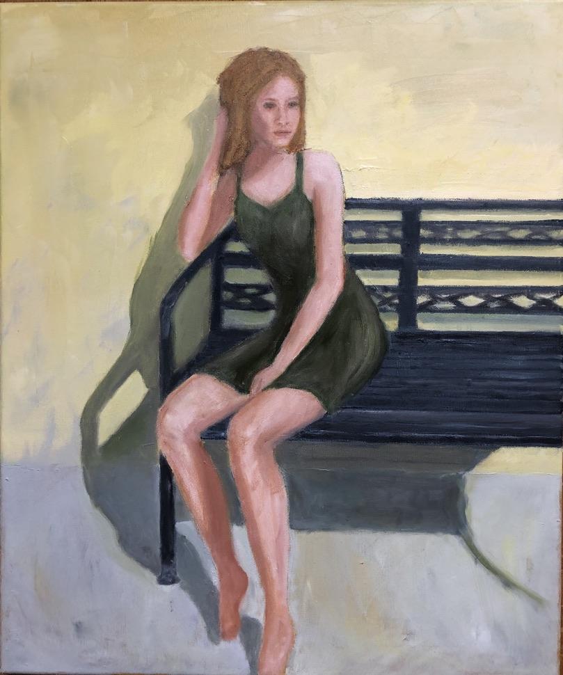 POSE - oil on canvas - 50x60 cm