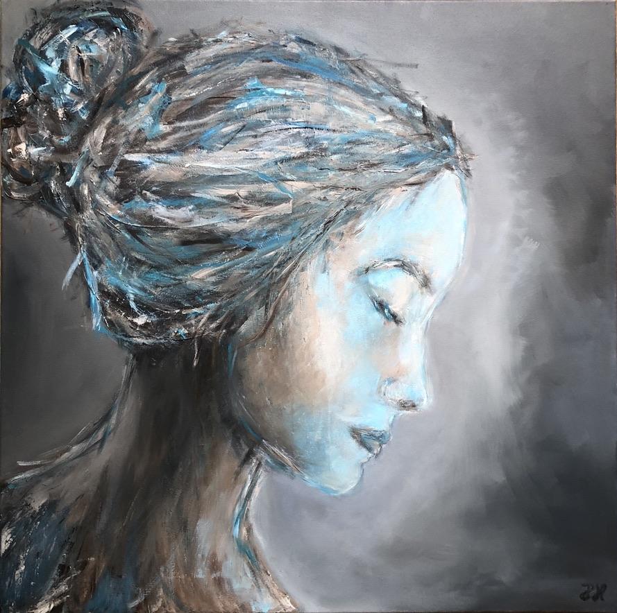 BRIGHT - oil on canvas - 70x70 cm